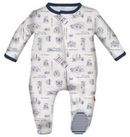 Magnificent Baby Magnetic Blueprint Footie