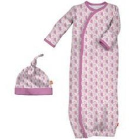 Magnificent Baby Mag. Mod Owls Modal Gown & Hat, NB/3M