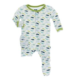 Kickee Pants Boy Dino Footie with Snaps