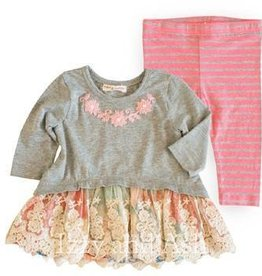 Mimi & Maggie Winter Garden Dress & Rose Stripe Legging