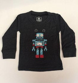 Wes And Willy Robot LS Tee Black Blend