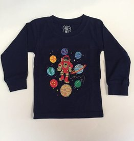 Wes And Willy Rocket Man LS Tee Midnight