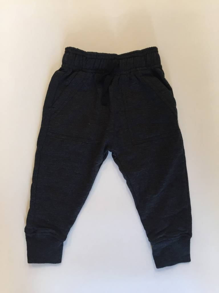 Wes And Willy Blend Slub Fleece Jogger Pant Black
