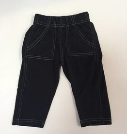 Wes And Willy Jersey Patch Pocket Pant Black