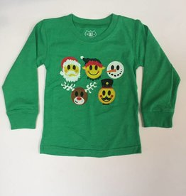 Wes And Willy Holiday Emojis Blend LS Irish