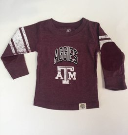 Wes And Willy Texas A&M Blend LS Jersey