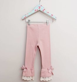 MaeLi Rose Lace Cuff Legging Rosy Lavender