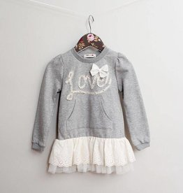 MaeLi Rose Love Sweatshirt Gray