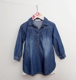 MaeLi Rose LS Denim Tunic Blue