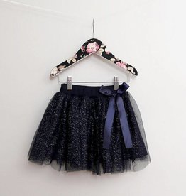 MaeLi Rose Sparkle Skirt Navy