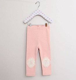 MaeLi Rose Tulle Knee Patch Legging Blush