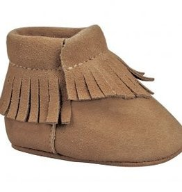 Trimfoot Co. Brown Suede Moccasins Fringe Trim