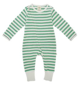 Tiny Twig Emerald Stripes LS Zipsuit