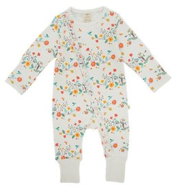 Tiny Twig Rainbow Florals Frill Zipsuit