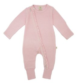 Tiny Twig Pink Stripes Frill Zipsuit