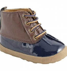 Trimfoot Co. Navy/Brown Duck Boot