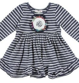 Mimi & Maggie Kayla Stripe Knit Dress Charcoal