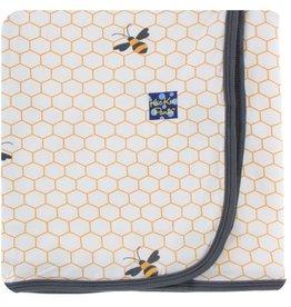 Kickee Pants Print Swaddling Blanket (Natural Honeycomb - One Size)
