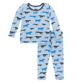 Kickee Pants Pond Running Labs Long Sleeve Pajama Set