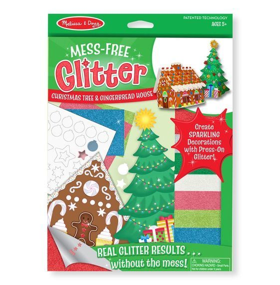 melissa doug mess free glitter xmas tree and gingerbread house - House Without A Christmas Tree