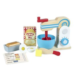 Melissa & Doug Wooden Make-a Cake Mixer Set
