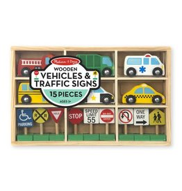Melissa & Doug Wooden Vehicles and Signs