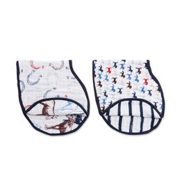 Aden & Anais Wild Horses 2-Pack Classic Burpy Bibs
