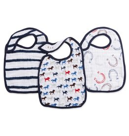 Aden & Anais Wild Horses 3-Pack Classic Snap Bibs