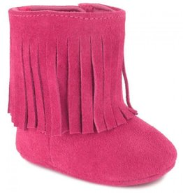 Trimfoot Co. Fuchsia Suede Fringe Boot