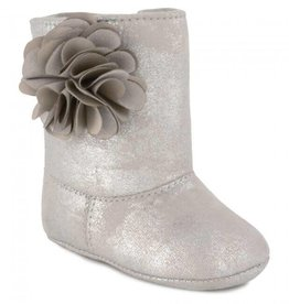 Trimfoot Co. Distressed Silver Boot with Flower
