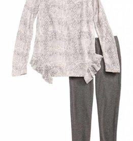 Splendid Python Print Loose Knit Set