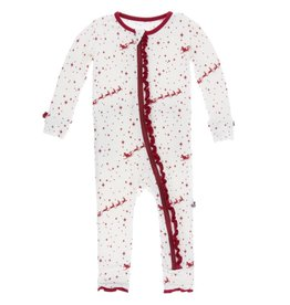 Kickee Pants Muffin Ruffle Coverall w/ Zipper