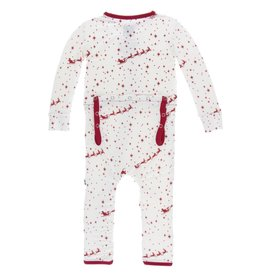Kickee Pants Print Coverall w/ Zipper