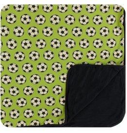 Kickee Pants Boy Toddler Blanket Meadow Soccer