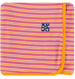Kickee Pants Swaddle Blanket Flamingo Brazil Stripe