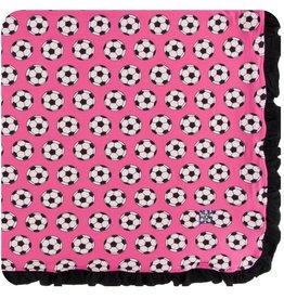 Kickee Pants Girl Ruff. Toddler Blanket Flamingo Soccer