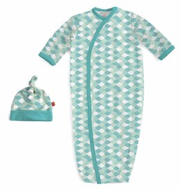 Magnificent Baby Green Mod Fish Modal Gown & Hat
