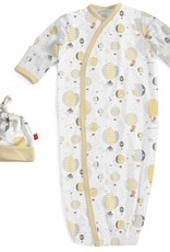 Magnificent Baby Yellow Up In The Air Modal Gown & Hat