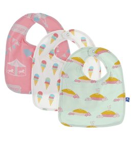 Kickee Pants Girl Bib Set (Carnival, Ice Cream, Blossom)
