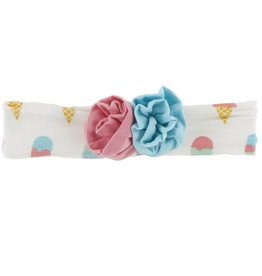 Kickee Pants Flower Headband Nat. Ice Cream