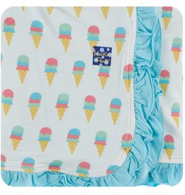 Kickee Pants Ruff. Toddler Blanket Nat. Ice Cream