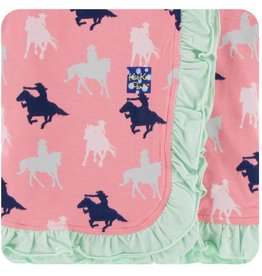 Kickee Pants Ruff. Toddler Blanket Strawberry Cowgirl