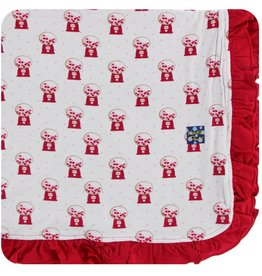 Kickee Pants Ruff. Toddler Blanket Nat. Gumball