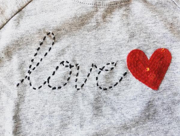 Haven Girl Love Script Misty Lovely Sweatshirt