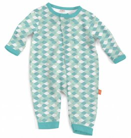 Magnificent Baby Green Mod Fish Modal Coverall
