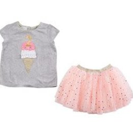 Mud Pie Second Birthday Confetti Tutu Set