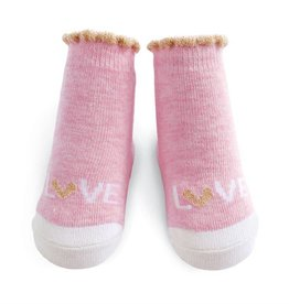 Mud Pie Light Pink Love Socks