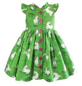 Little Miss Marmalade Unicornland Glen Park Green Dress
