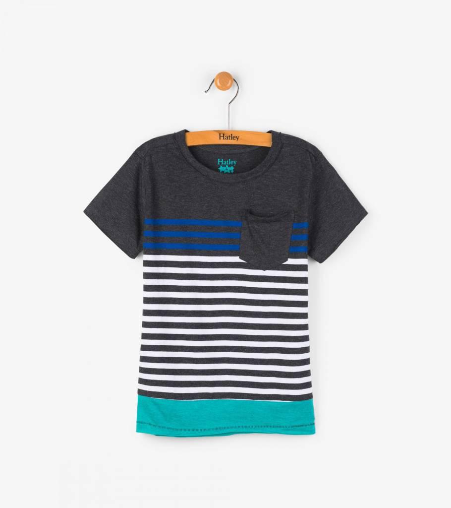 Hatley Colorblock Stripe Abyss Tee