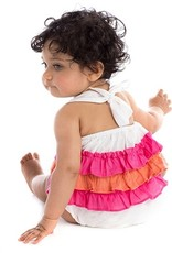 Masala Baby Baby Girl White One Piece